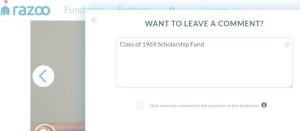 donation example razoo